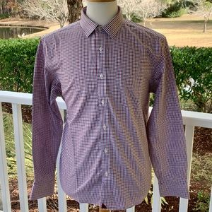 UNtuckit Monello Checked Long Sleeve Shirt. Large